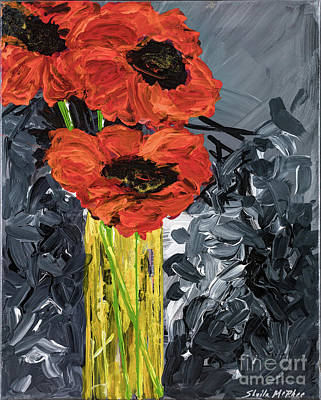 Painting - Poppy Love by Sheila McPhee