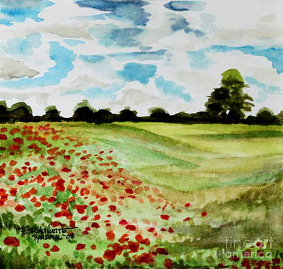 Painting - Poppy Meadow by Elizabeth Robinette Tyndall