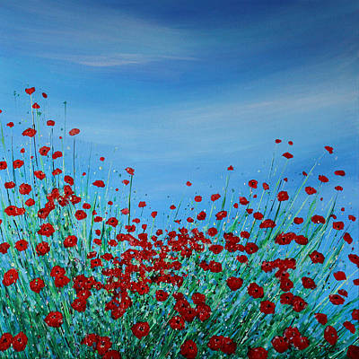 Painting - Poppy Meadow  by K McCoy