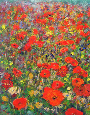 Painting - Poppy Meadow by Richard James Digance