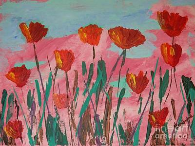 Painting - Poppy Mirth by Corinne Elizabeth Cowherd
