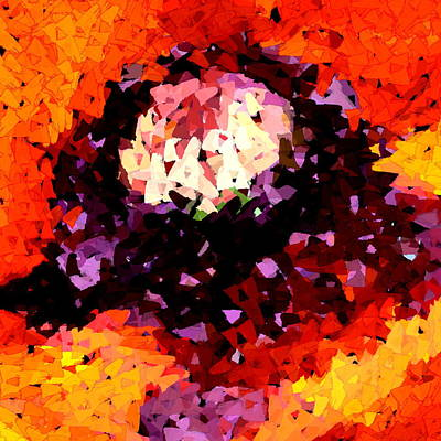 Digital Art - Poppy Mosaic by Karon Melillo DeVega