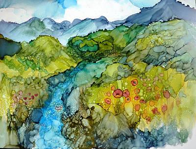 Poppy Mountains Art Print by P Maure Bausch
