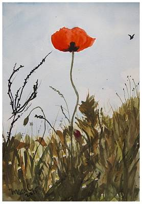 Painting - Poppy On The Field by Manuela Constantin