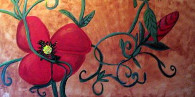 Poppy One Art Print by Rebecca Merola