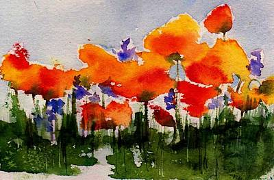 Painting - Poppy Parade by Anne Duke