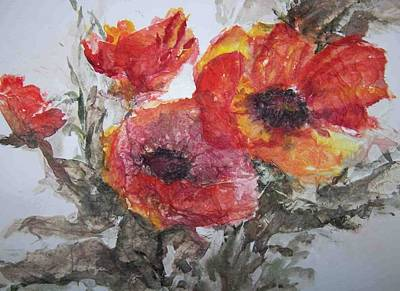 Painting - Poppy Parade by Sandy Collier