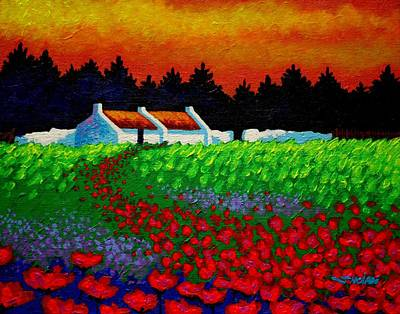 Poppy Path Art Print by John  Nolan