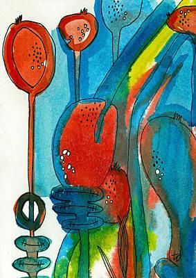 Poppy Pods 1 Art Print