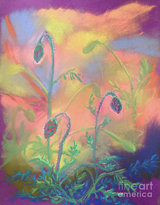 Painting - Poppy Pods by Anne Marie Brown