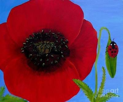 Painting - Poppy Power by Karen Jane Jones