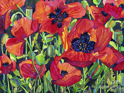 Painting - Poppy Profusion by Barb Pearson