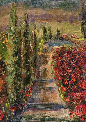 Italian Tuscan Painting - Poppy Road by Jodi Monahan