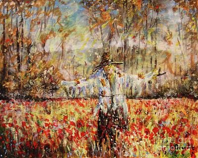 Painting - Poppy Scarecrow by Dariusz Orszulik