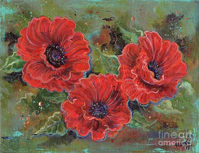 Painting - Poppy Splendor by Renee Lavoie