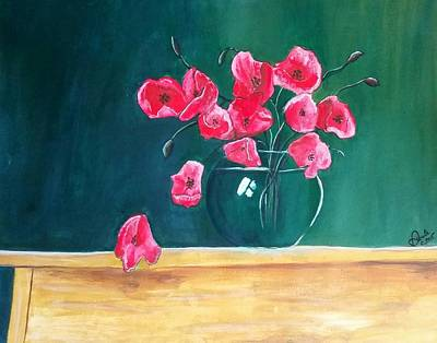 Painting - Poppy Still Life by Carol Duarte
