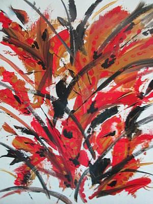 Poppy Storm Art Print