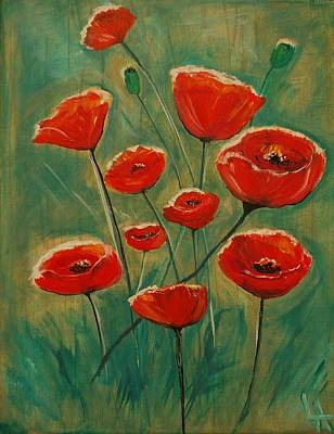 Painting - Poppy Surprise by Leslie Allen