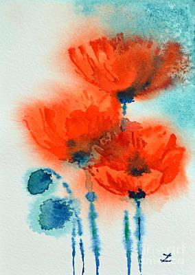 Painting - Poppy Symphony by Zaira Dzhaubaeva