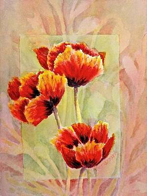 Painting - Poppy Trio by Carolyn Rosenberger