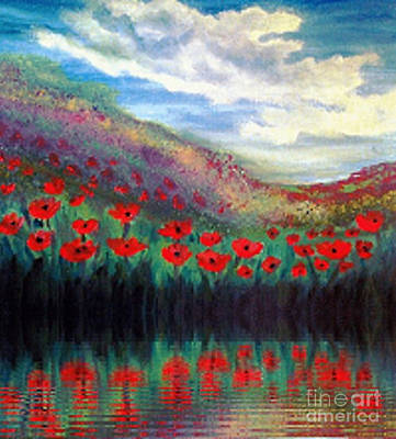 Painting - Poppy Wonderland by Holly Martinson