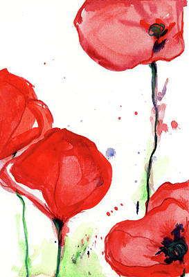 Painting - Poppyred by Johannes Margreiter