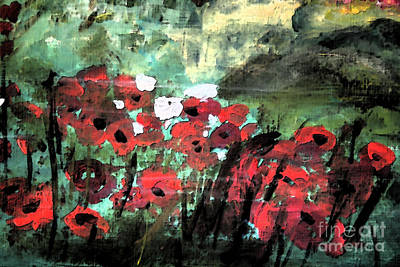 Painting - Poppy's  by Julie Lueders