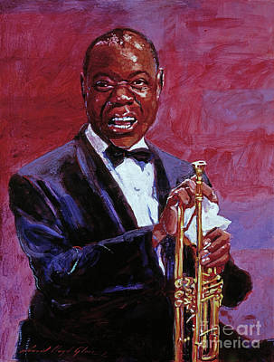 Trumpet Painting - Pops Armstrong by David Lloyd Glover