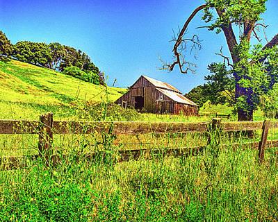 Western Photograph - Pops Old Barn by Don Schimmel