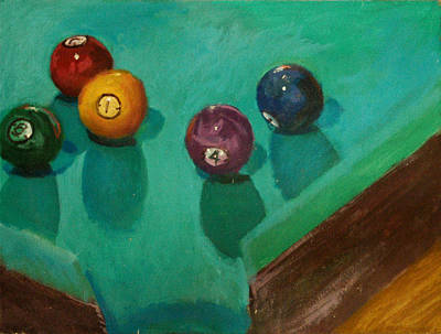 Cue Painting - Pop's Table by Robert Bissett