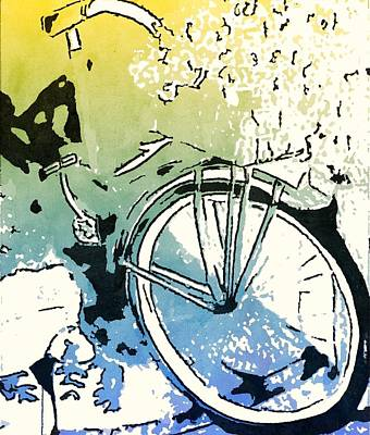 Painting - Popsi Backdoor Bike by Joan Zepf