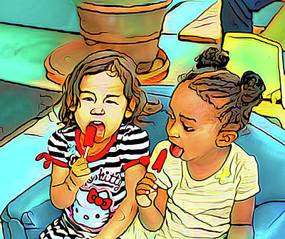 Photograph - Popsicle Twins by Joseph Hollingsworth