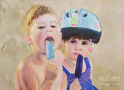 Painting - Popsicles by Carol Flagg