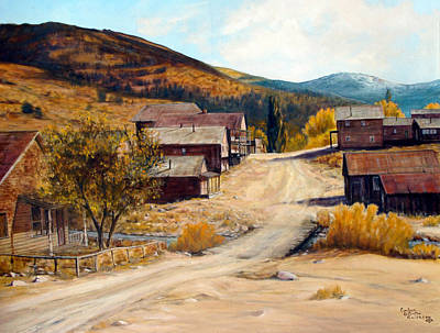 Painting - Population 0 Ghost Town Of Silver City Idaho by Evelyne Boynton Grierson