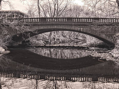 Photograph - Poquessing Creek Bridge by Fred Moore