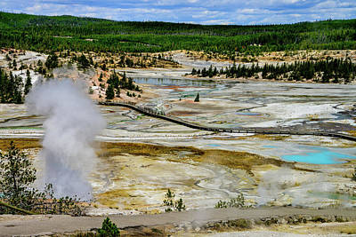 Photograph - Porcelain Basin, Yellowstone by Marilyn Burton