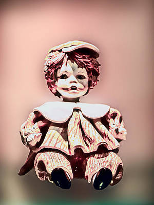 Porcelain Doll In Pink Original