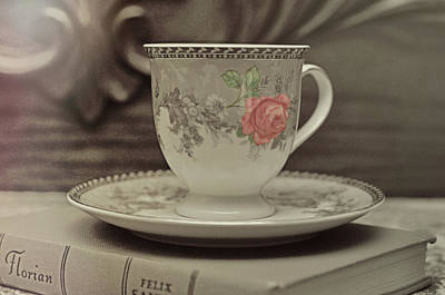 Photograph - Porcelain Tea Rose by JAMART Photography
