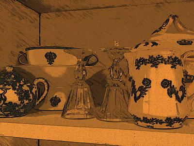 Porcellane E Bicchieri Art Print by Tila Gun
