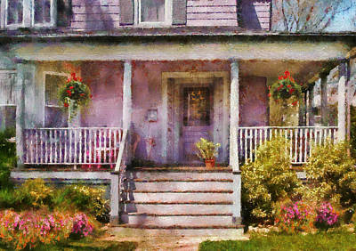 Porch - Cranford Nj - Grandmotherly Love Print by Mike Savad
