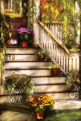 Photograph - Porch - Westifeld Nj - Livin' It Up With Nature by Mike Savad