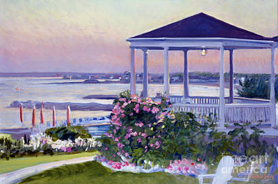 Painting - Porch At Sunet by Candace Lovely