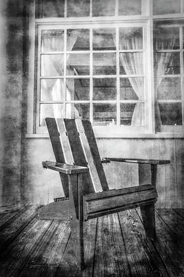 Charming Cottage Photograph - Porch Chair by Debra and Dave Vanderlaan