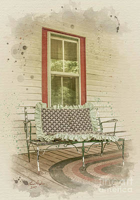 Digital Art - Porch Chair by Lena Auxier