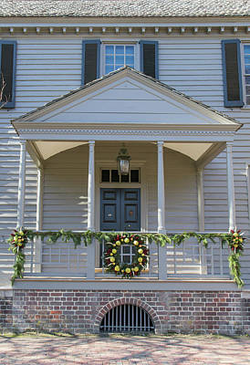 Porch Decor At The Robert King Carter House Art Print
