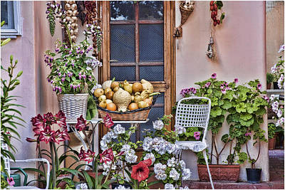 Patio Digital Art - Porch In Anacapri Italy by Antique Images
