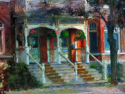 Painting - Porch In The Morning Light by Jo-Anne Gazo-McKim