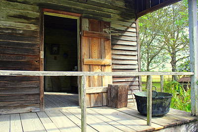 Creole Cottage Wall Art - Photograph - Porch Of A Slave Home On Laura Plantation by Anita Hiltz