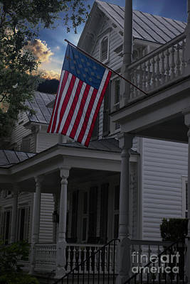 Photograph - Porch Patriotism by Dale Powell