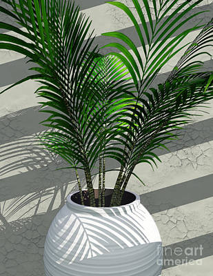 Potted Plant Digital Art - Porch Plant by Richard Rizzo